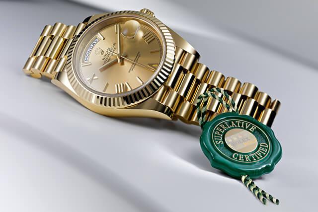 Rolex Day-Date 40 e selo verde