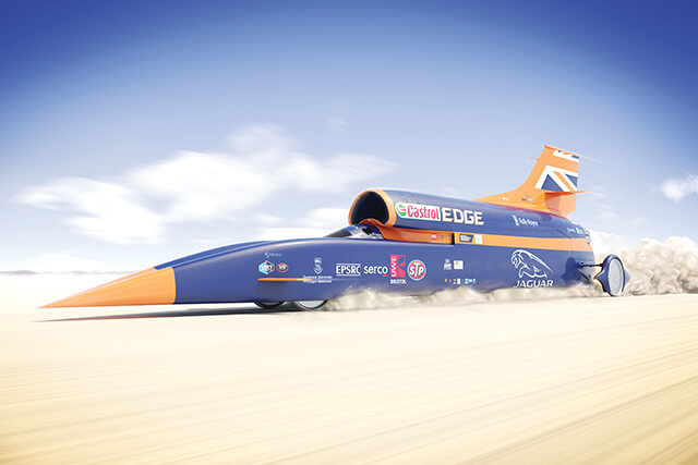 Pioneira: Bloodhound Supersonic Car © The Bloodhound Project
