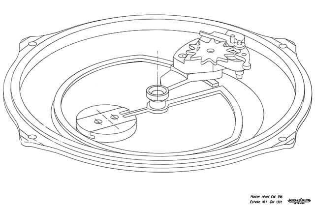 esquema do sistema de alarme do Jaeger-LeCoultre Master Grand Réveil © Jaeger-LeCoultre