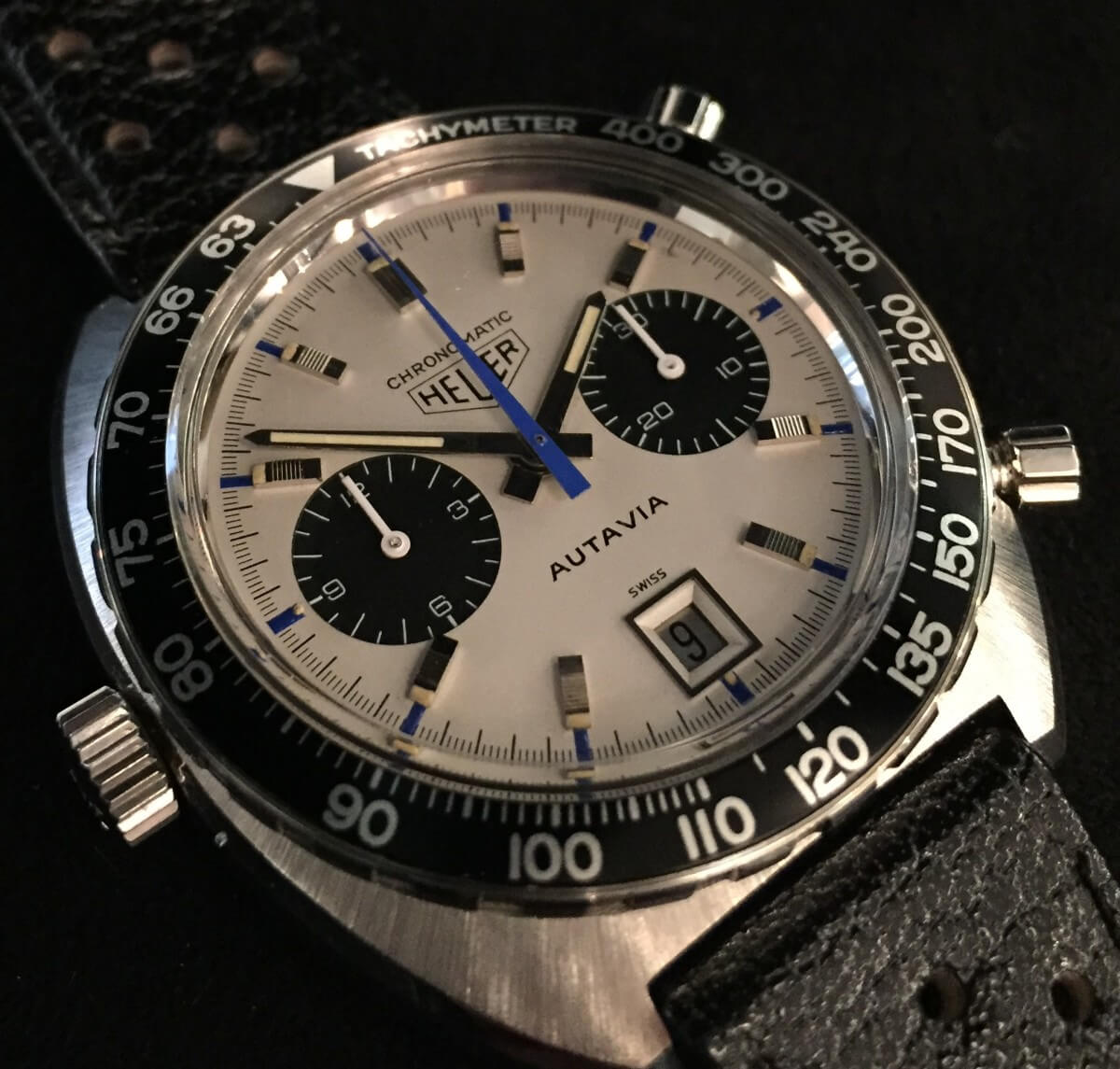 "Lot 42 – Heuer Autavia Chronomatic ""Siffert"""