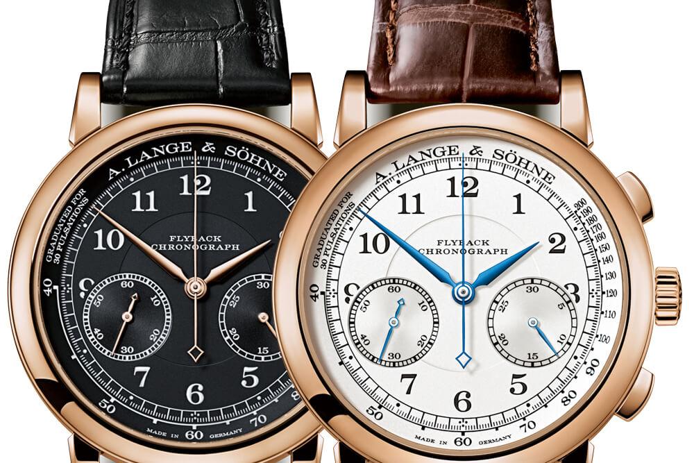 A. Lange & Söhne 1815 Chronograph | Ref. 414.031 (mostrador preto) & Ref. 414.032 | ® A. Lange & Söhne