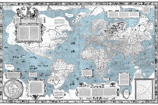 Um mapa Mercator original de 1569. © creation.com