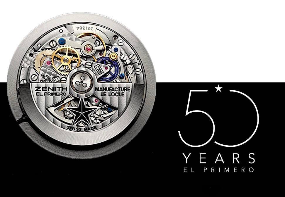 O mais famoso movimento cronográfico da relojoaria de pulso comemora este ano as suas Bodas de Ouro © Zenith