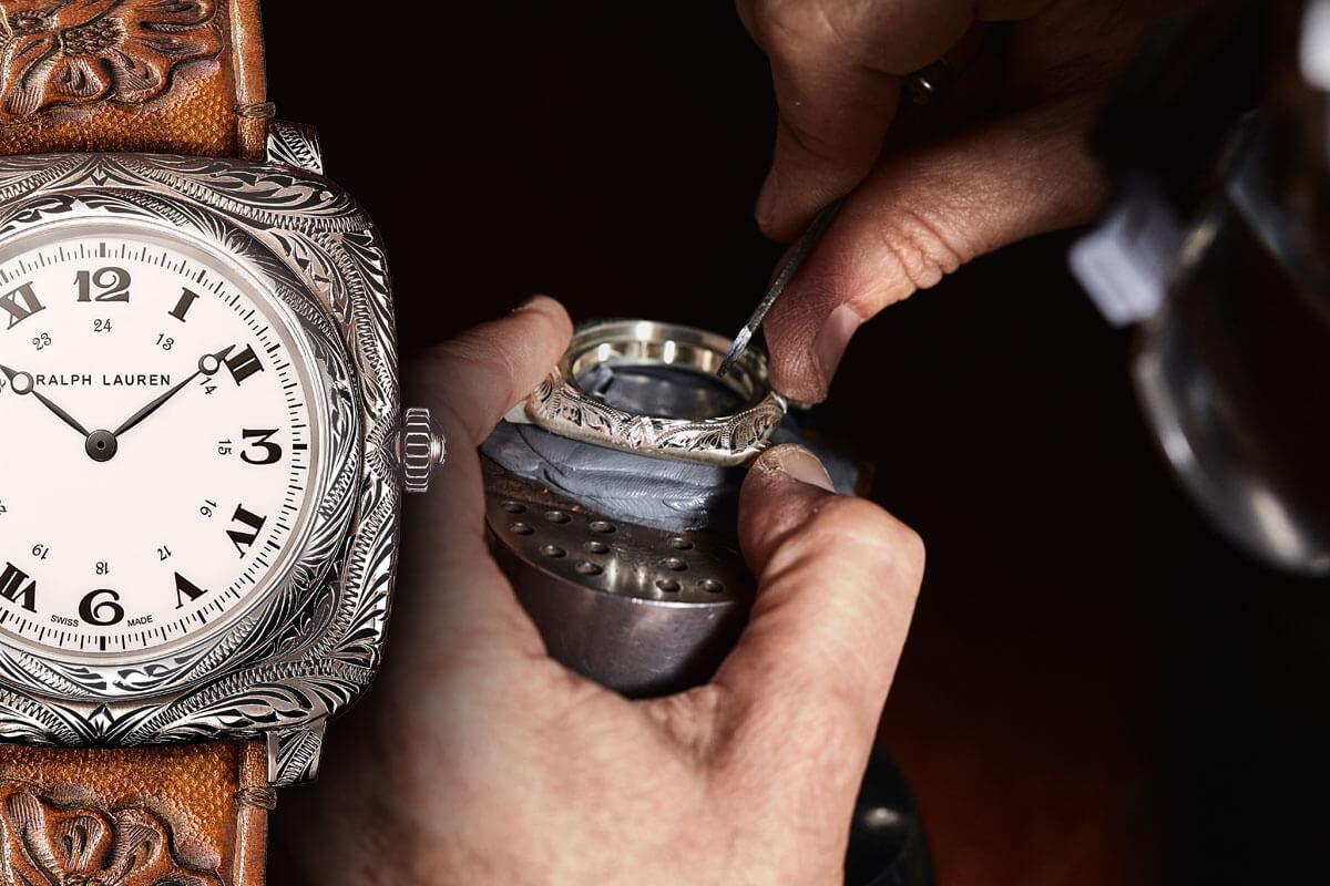 Um relógio surpreendente e inesperadamente cobiçado: o Ralph Lauren American Western Cushion © Ralph Lauren