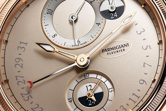 Parmigiani Toric Hémisphère: dois fusos horários independentes ao minuto, com duplo indicador dia/noite. © Parmigiani Fleurier