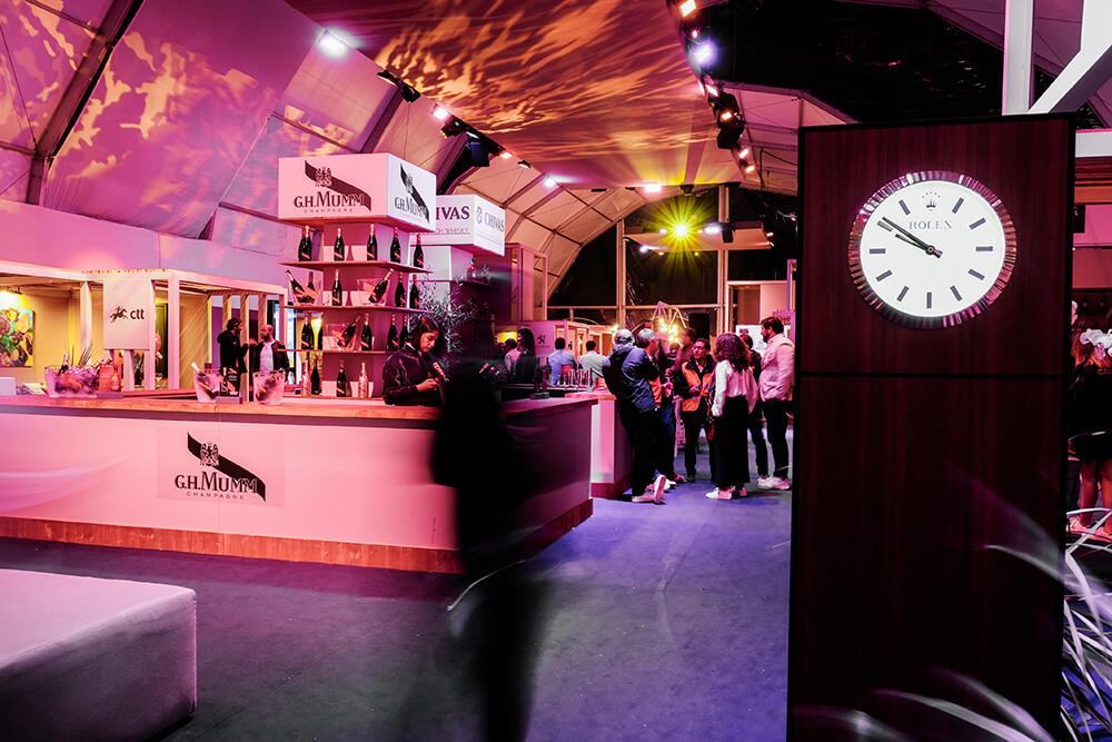 A presença da Rolex no Slice Lounge, a zona corporate do Millennium Estoril Open © Pau Storch / Millennium Estoril Open