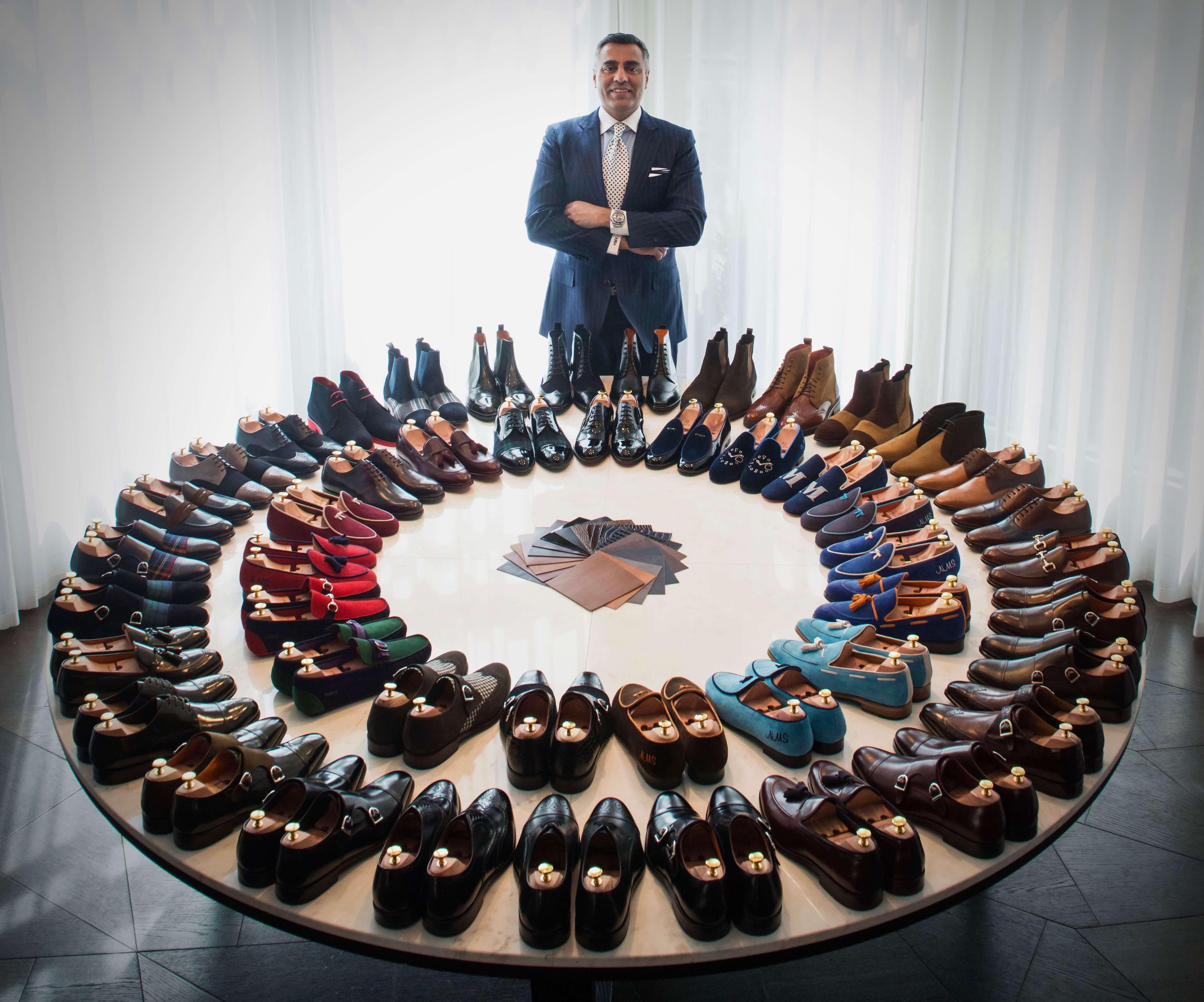 Nigel Siwani e a sua Mount Street Shoe Company © Adam Priscak