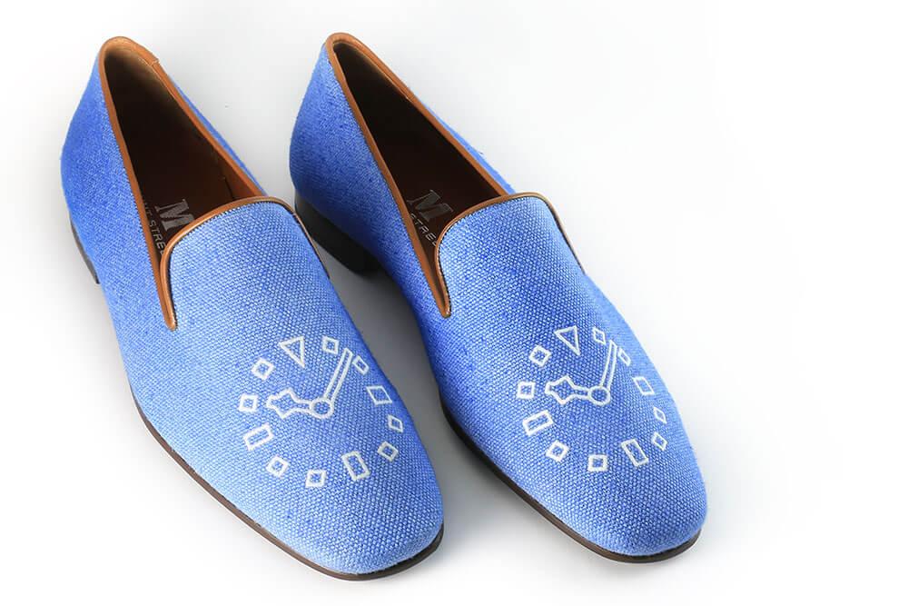 Depois de vários testes no website da Mount Street Shoe, este foi o resultado final: um mocassim de verão inspirado pelo meu Black bay Blue © Paulo Pires/Espiral do Tempo