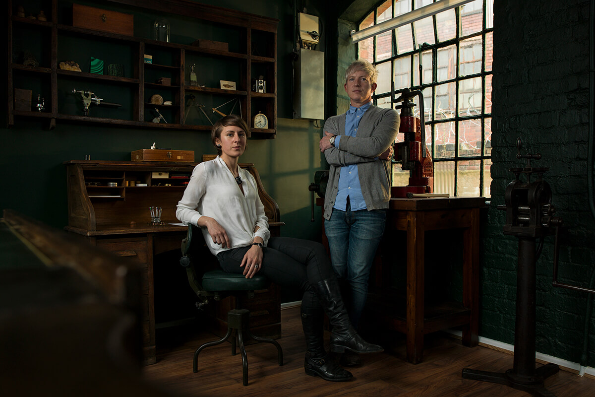 Rebecca Struthers e Craig Struthers, fundadores da Struthers Watchmakers.