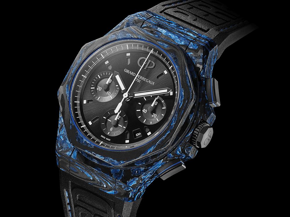 O Laureato Absolute Carbon Glass da Girard-Perregaux. © Girard-Perregaux
