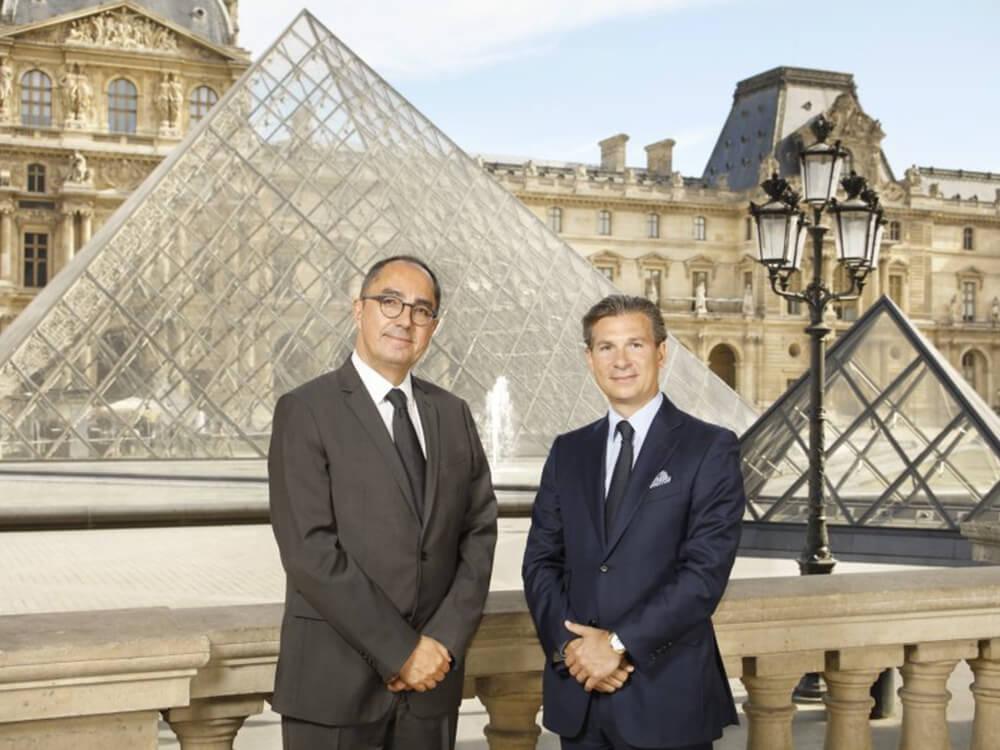 Jean-Luc Martinez, presidente do Museu do Louvre, e Louis Ferla, CEO da Vacheron Constantin. © Vacheron Constantin