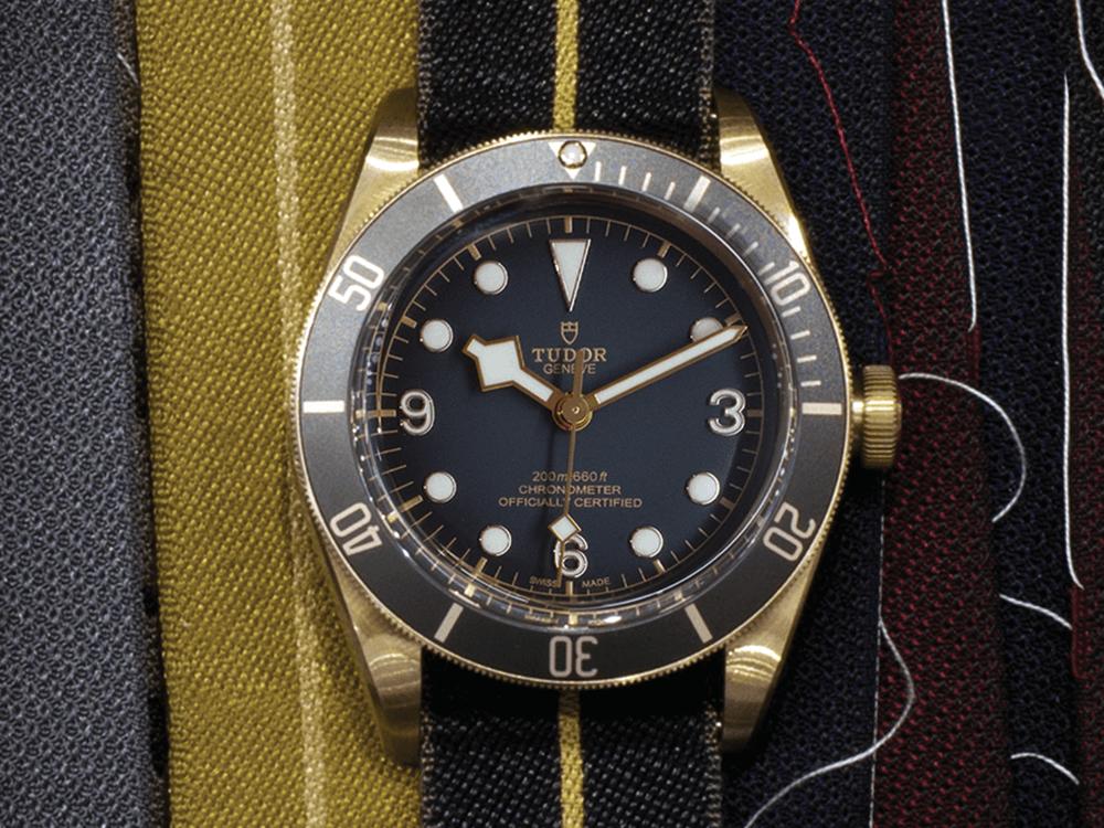 As famosas braceletes de tecido da Tudor  © Paulo Pires / Espiral do Tempo