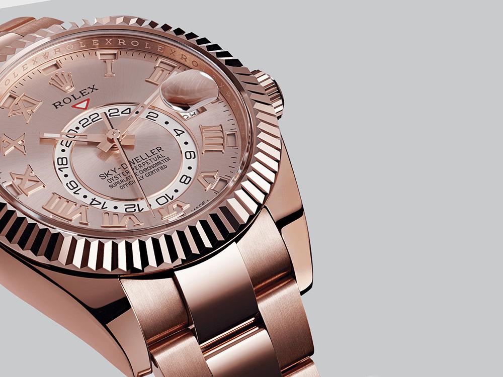O Sky-Dweller da Rolex destaca-se pelo seu inovador calendário anual. © Rolex