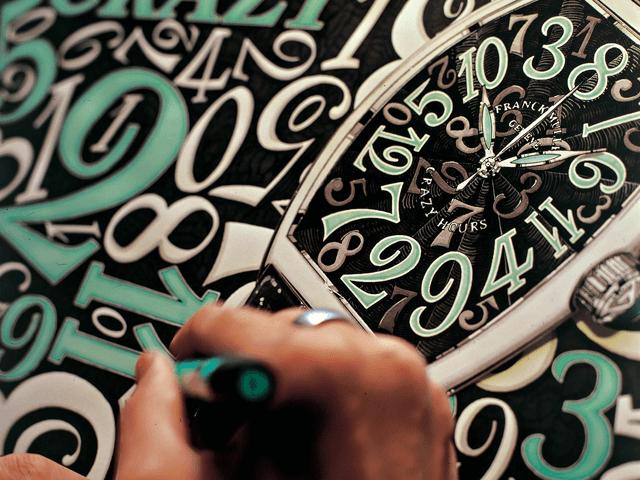 Fontes tipográficas na relojoaria - Franck Muller