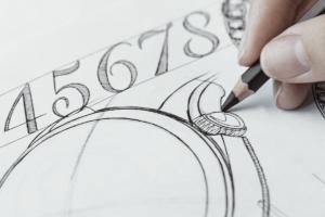 Fontes tipográficas na relojoaria - Hermès