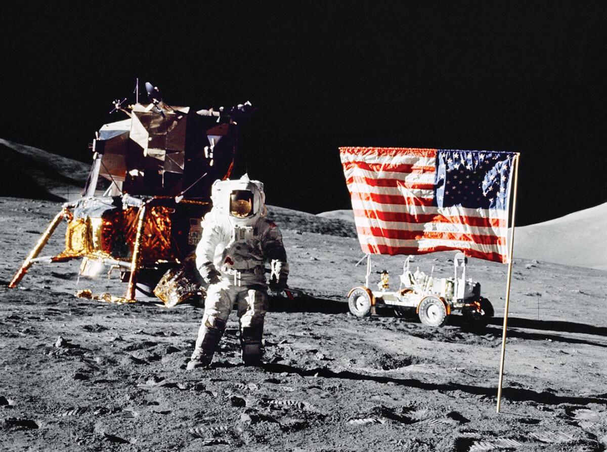 Chegada à Lua em 1969. © NASA