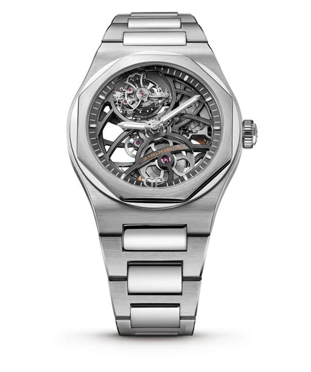Girard-Perregaux Laureato Flying Tourbillon Skeleton Ref. 99110-53-001-53A | Corda automática | Ouro branco | 42mm