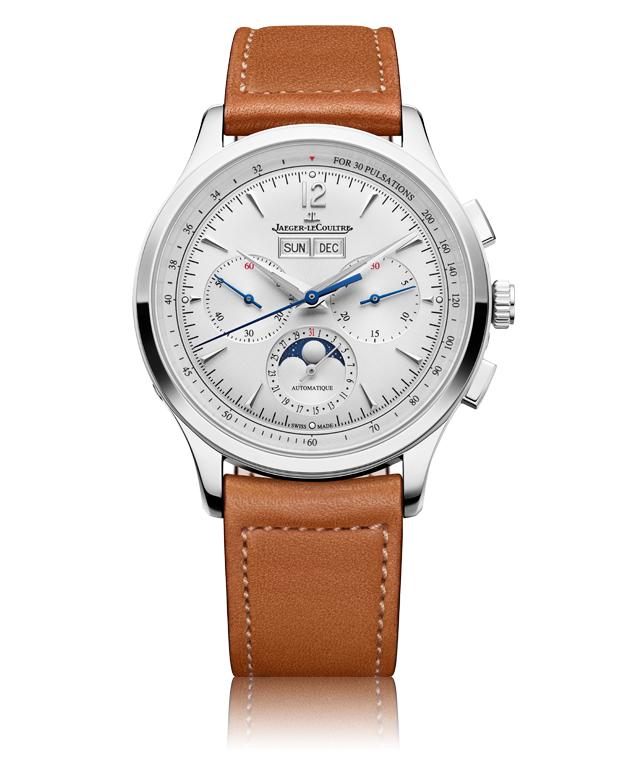 Relógio Master Control Chronograph Calendar visto de frente