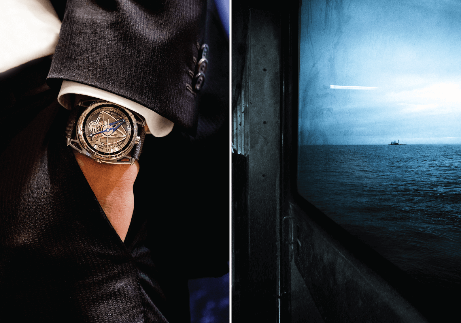 De Bethune | DB28 G GS Grand Bleu | Ref. DB28GSV 2AN Corda manual | Titânio | Ø 44 mm | Relógio cedido por De Bethune © Paulo Pires / Espiral do Tempo
