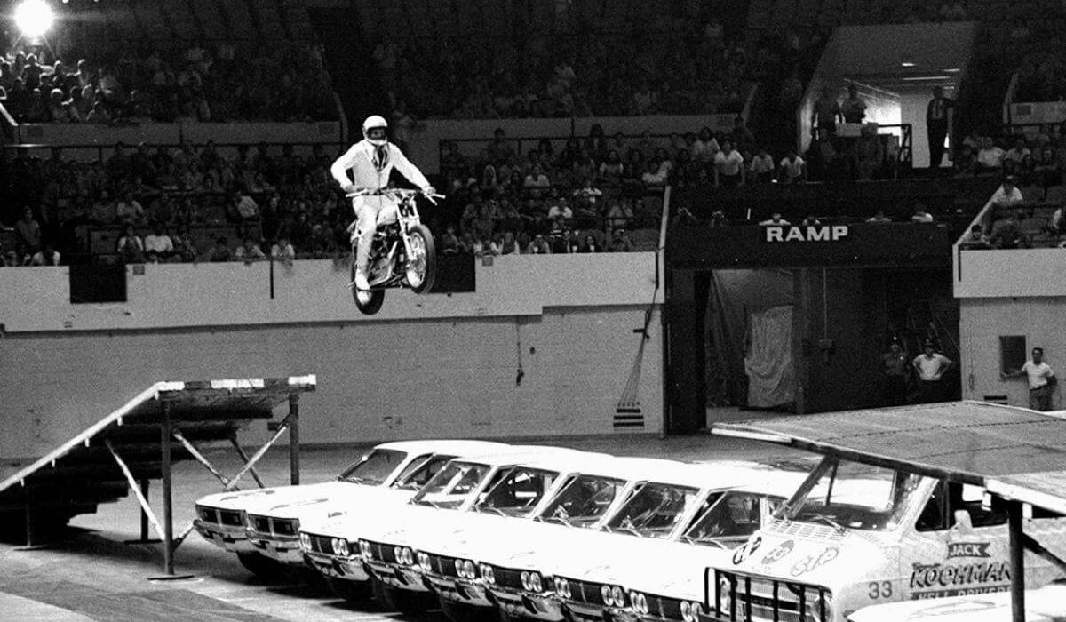 Evel Knievel no Madison Square Garden.