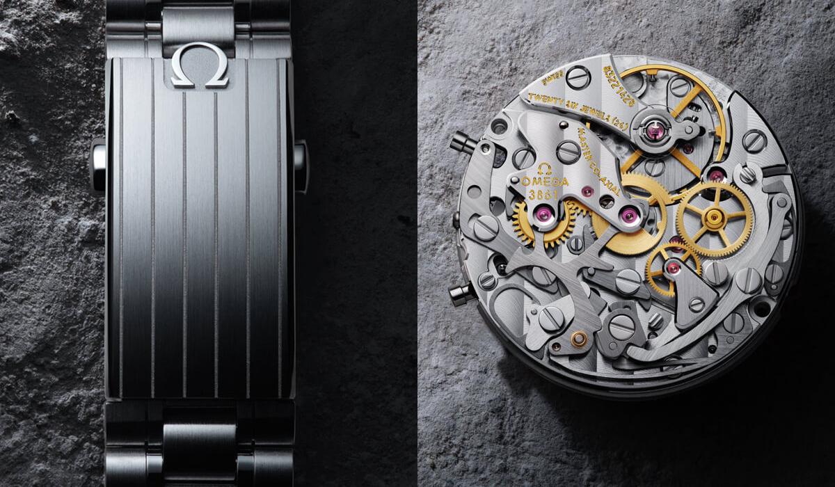 O novo Omega Speedmaster Professional tem uma caixa de 42mm e alberga um movimento da nova geração (o Calibre 3861 de escape co-axial com certificação METAS) e uma nova bracelete com elos e fecho aprimorados.