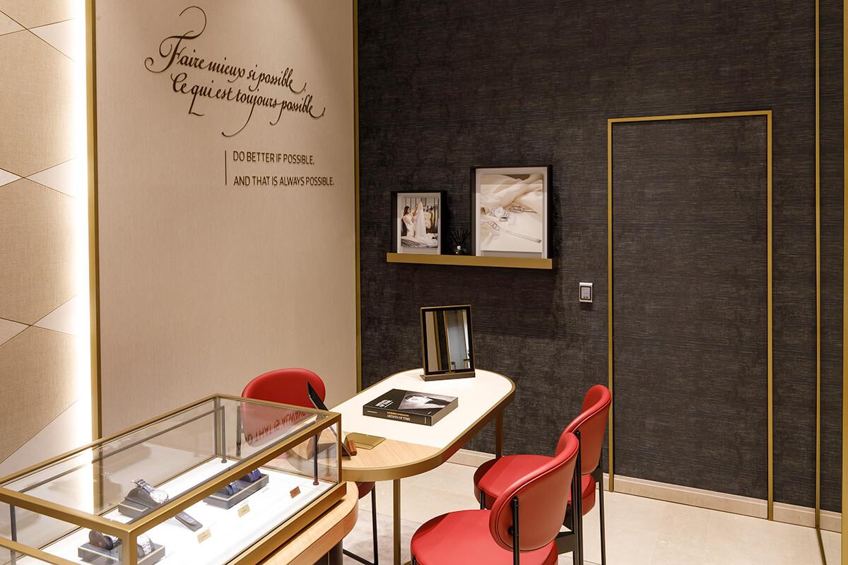 Interior da nova boutique da Vacheron Constantin em Lisboa