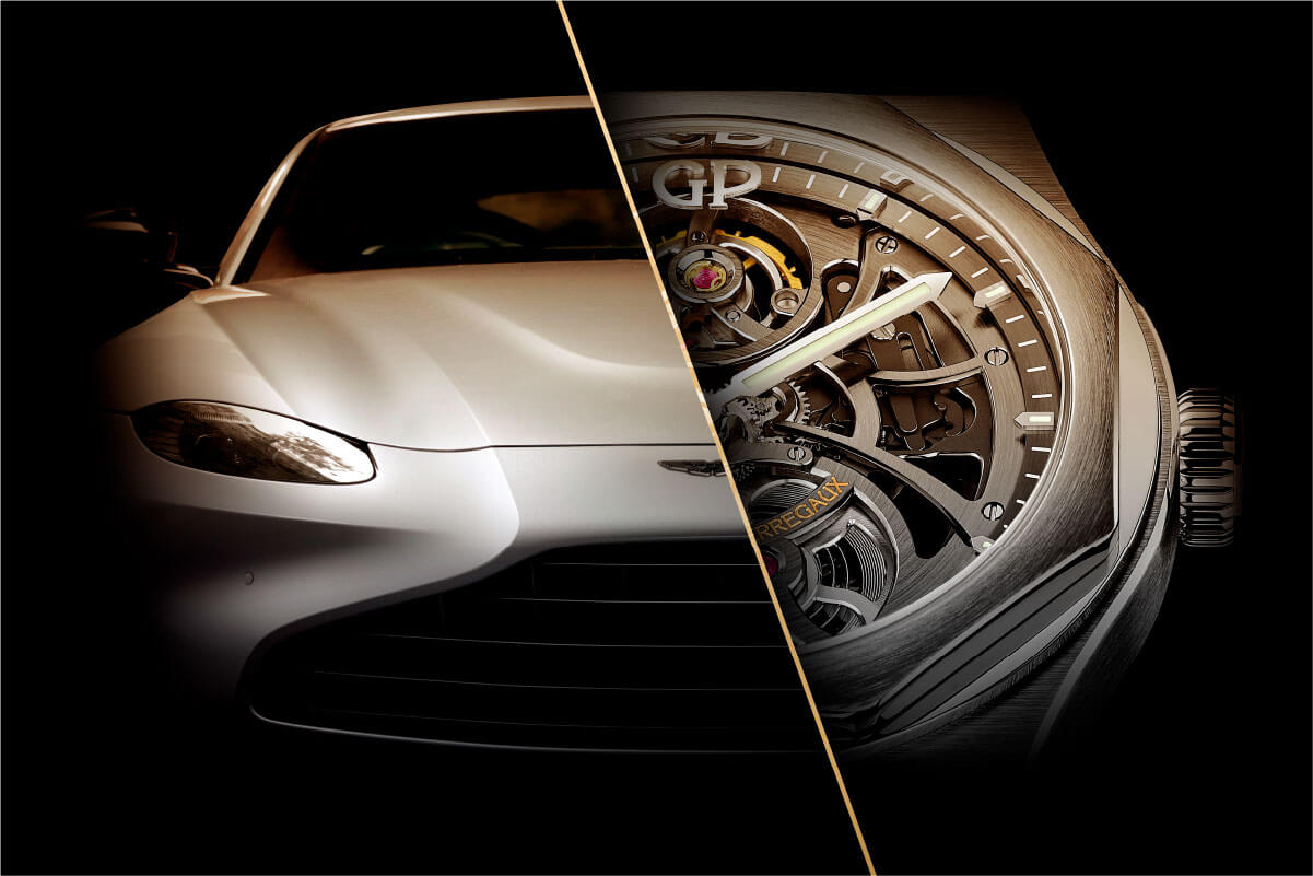 Girard-Perregaux Aston Beauty - Metade da imagem Aston Martin, a outra metade com relógio Girard-Perregaux