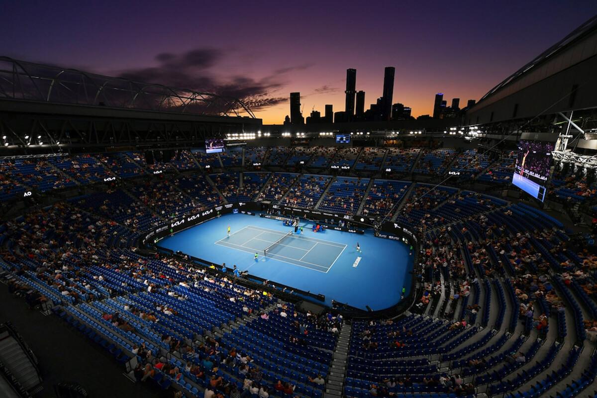 Vista para a Rod Laver Arena onde decorreu o Open Australia 2021