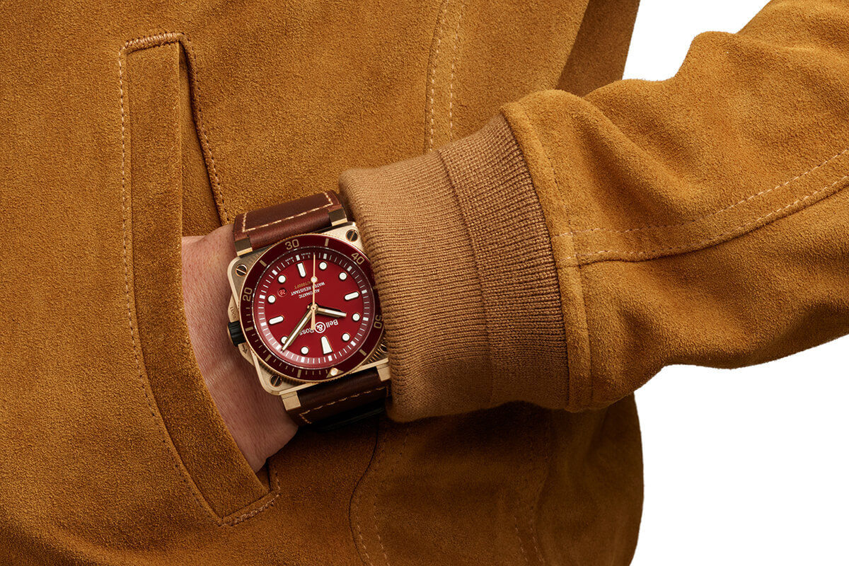 Bell & Ross BR 03-92 Diver Red Bronze no pulso