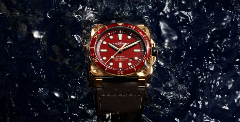 Bell & Ross BR 03-92 Diver Red Bronze na água