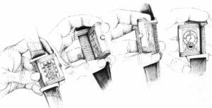 Ilustração Jaeger-LeCoultre Reverso | © Magda Pedrosa / Espiral do Tempo