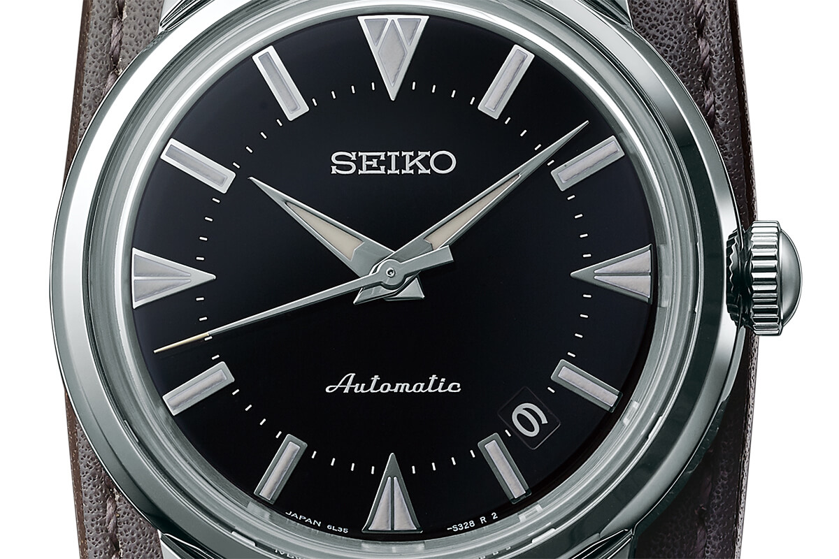 Mostrador preto do Seiko Prospex The 1959 Alpinist Re-Creation SJE085J1