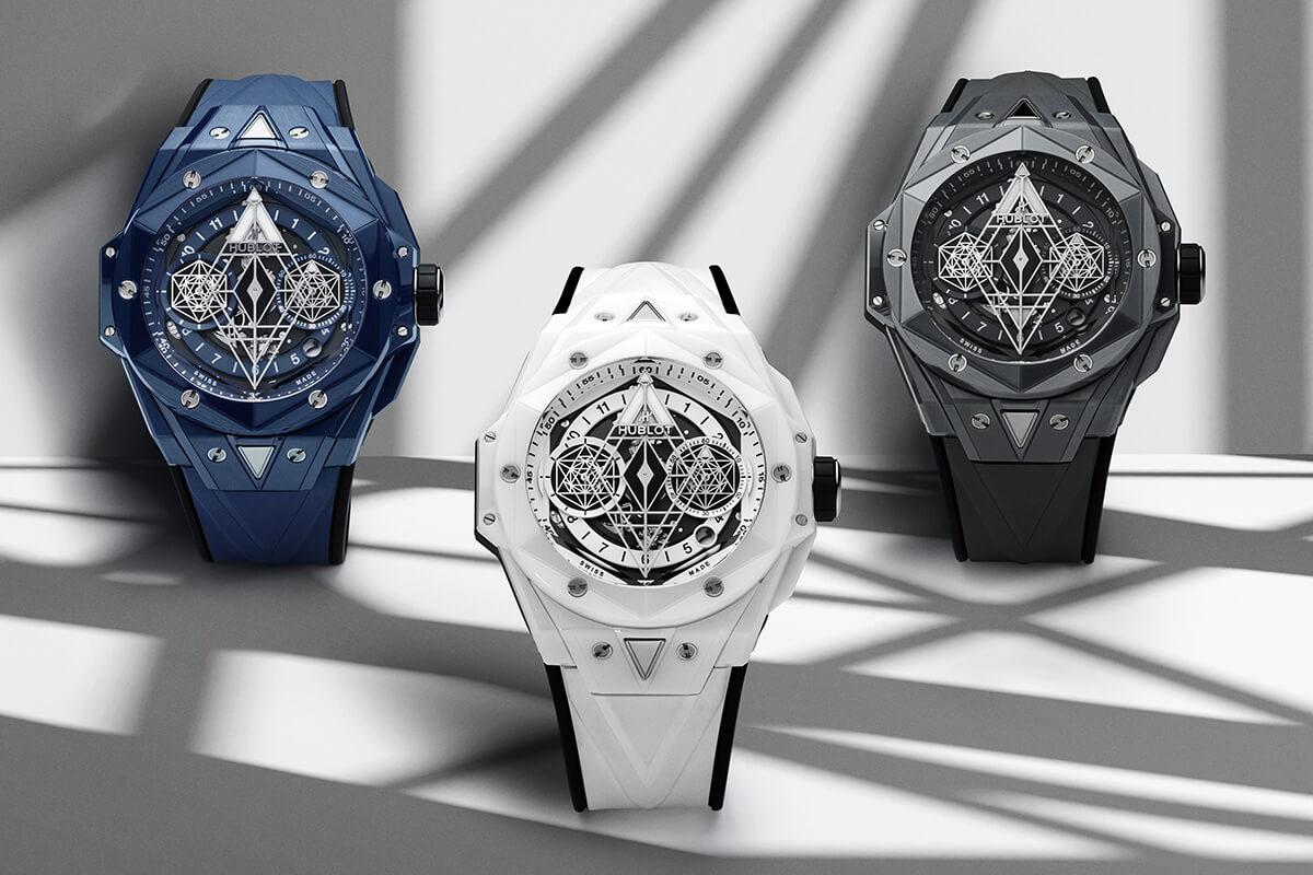 Hublot Big Bang Sang II em azul, branco e cinzento