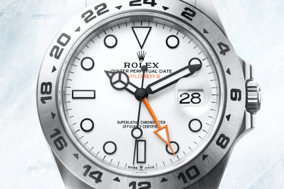 Rolex Explorer II, pormenor mostrador © Rolex