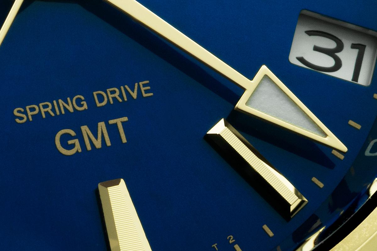 Pormenor mostrador Grand Seiko Spring Drive GMT SBGE248   @ Paulo Pires / Espiral do Tempo