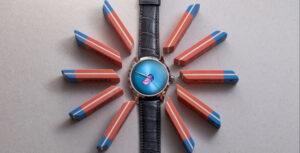 H. Moser & Cie. Endeavour Centre Seconds Concept X Seconde Seconde ao centro, rodeado de um círculo de borrachas