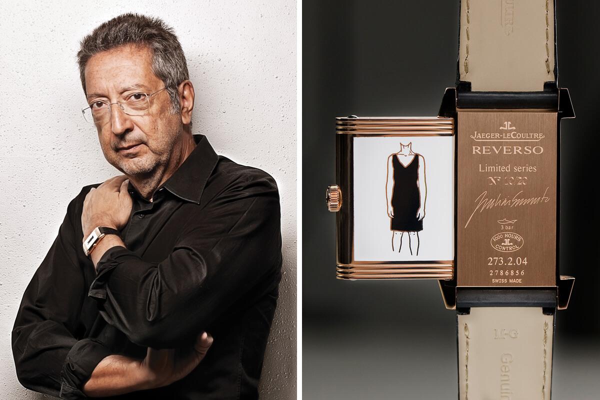 Julião Sarmento com a edição especial Jaeger-lecoultre Reverso Arte portuguesa Julião Sarmento