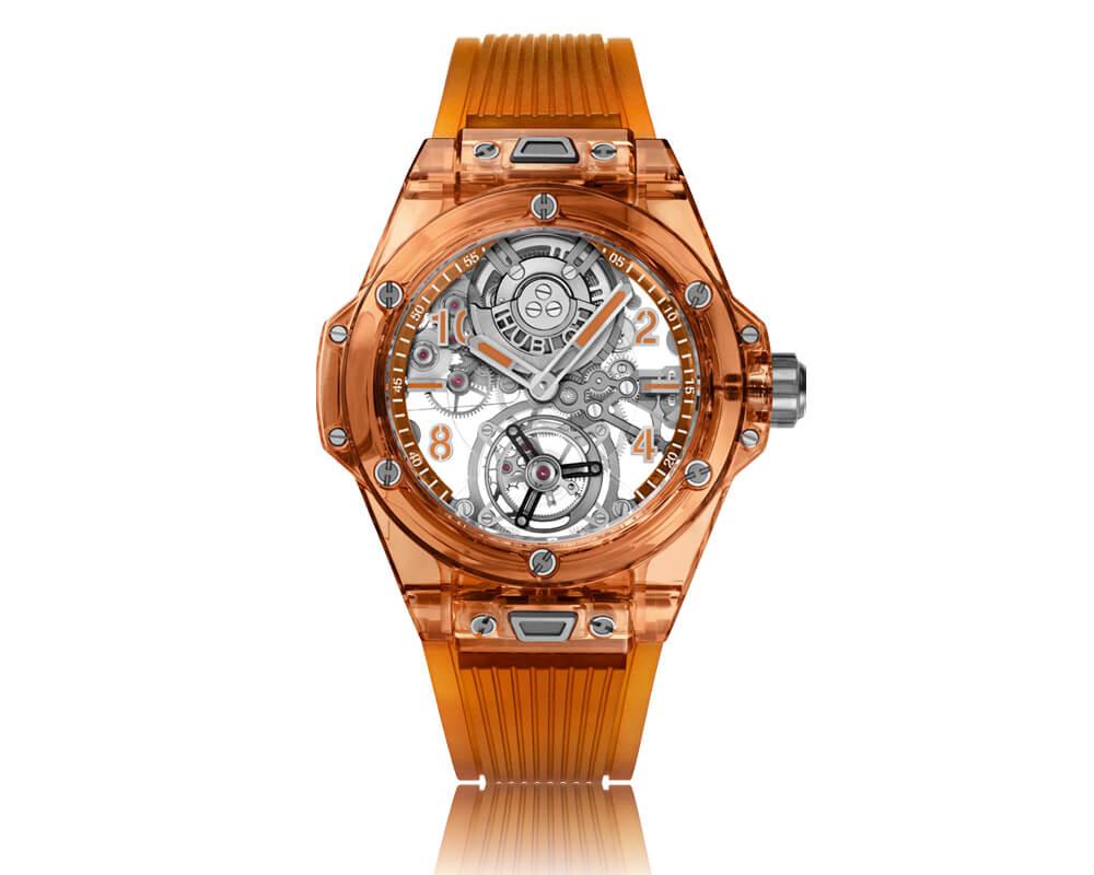 Hublot - Big Bang Tourbillon Automatique Sapphire Orange | soldad @ Hublot