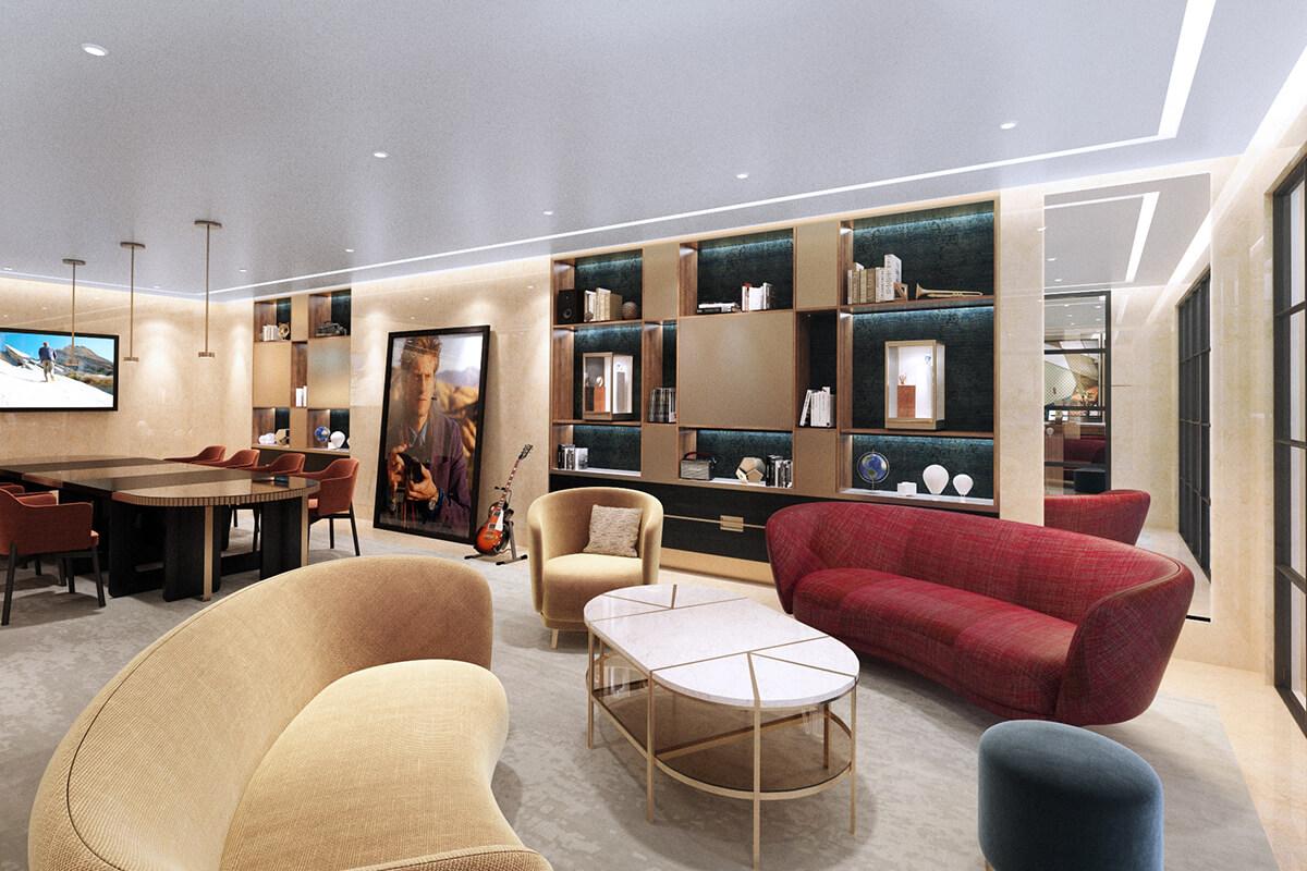 Lounge da nova flagship store da Vacheron Constantin em Nova Iorque
