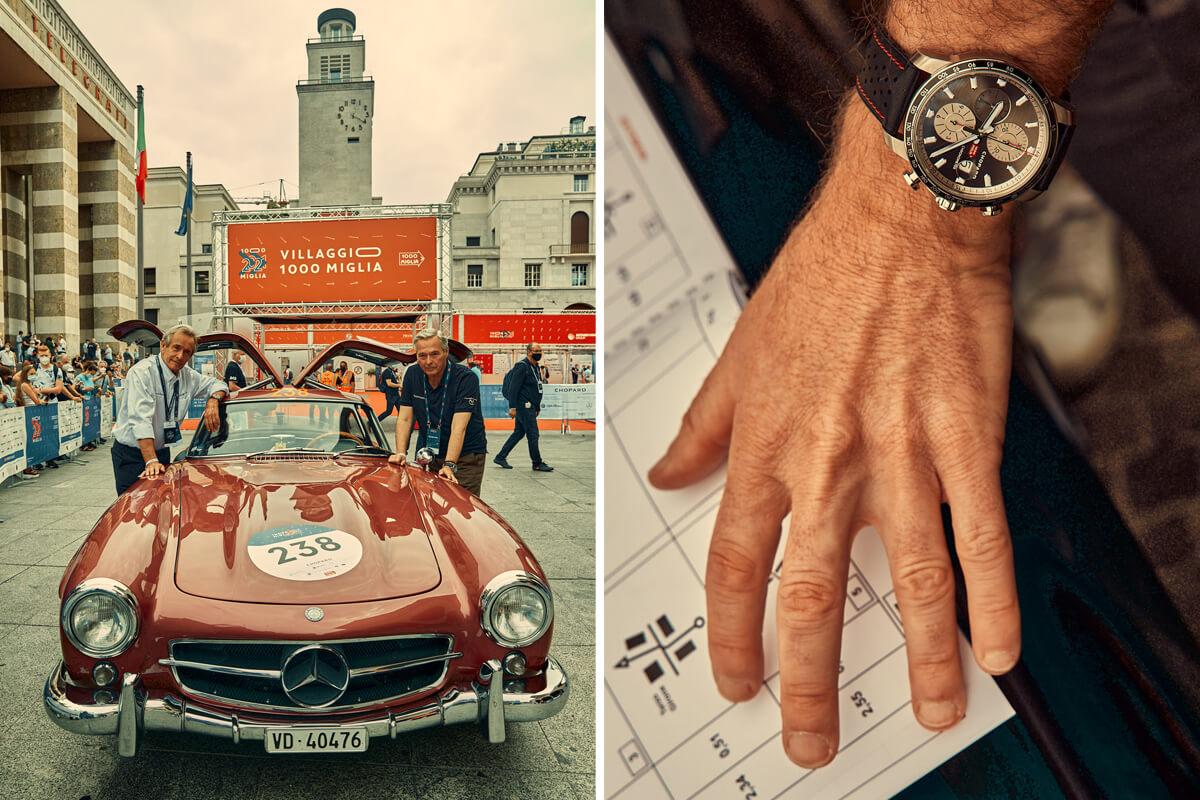 Karl-Friedrich Scheufele e Jacky Ickx na edição de 2021 e o Chopard Mille Miglia 2021 Race Edition
