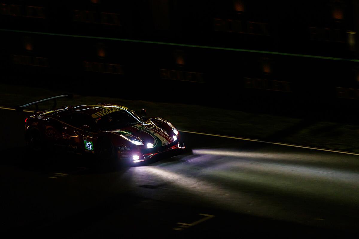 Le Mans, treinos na pista à noite em 2021