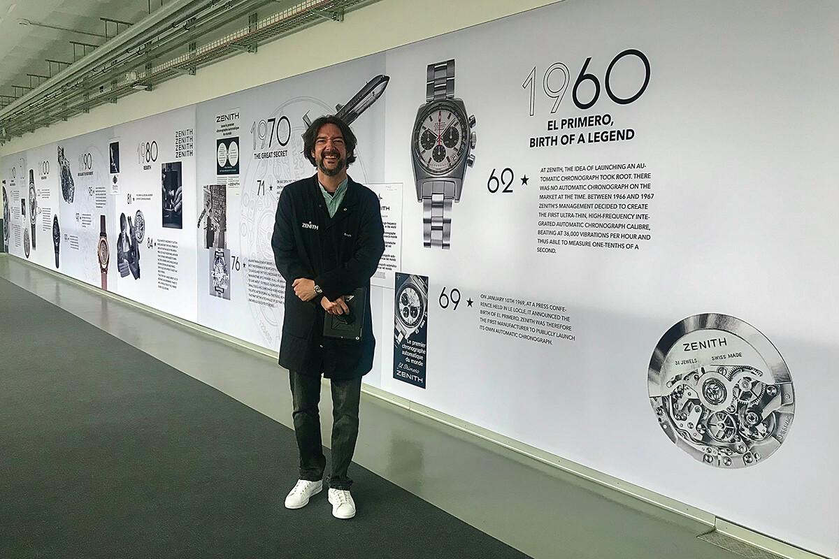 Romain Mazzilli, Brand Experience Manager da Zenith, e a cronologia da marca