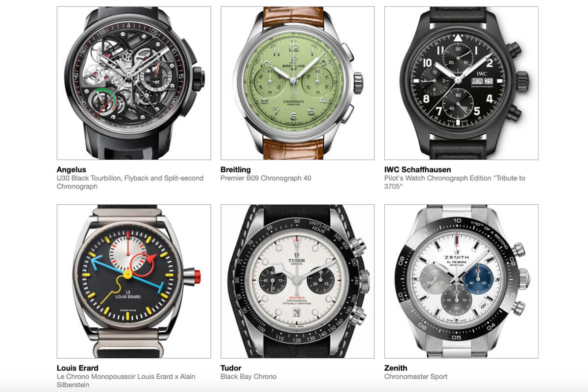GPHG 2021 Nominated Watches: Chronograph