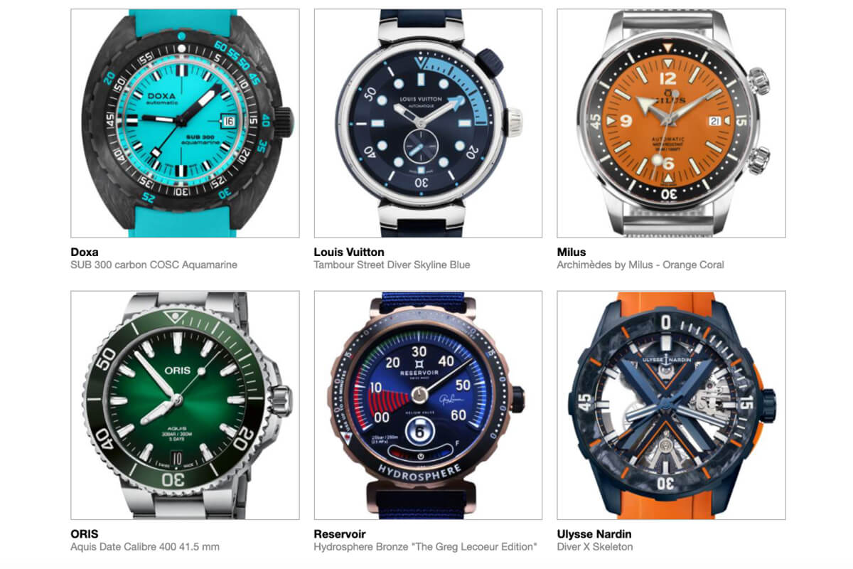 GPHG 2021 Nominated Watches: Diver's