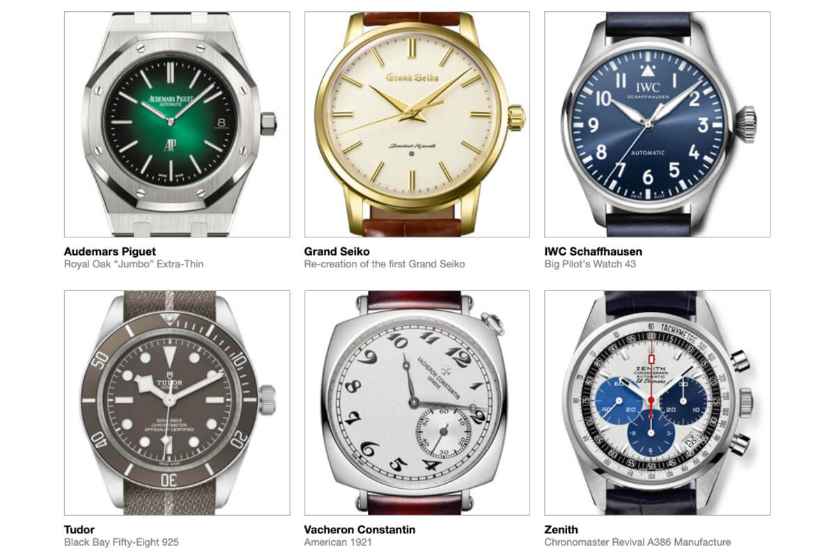 GPHG 2021 Nominated Watches: Iconic