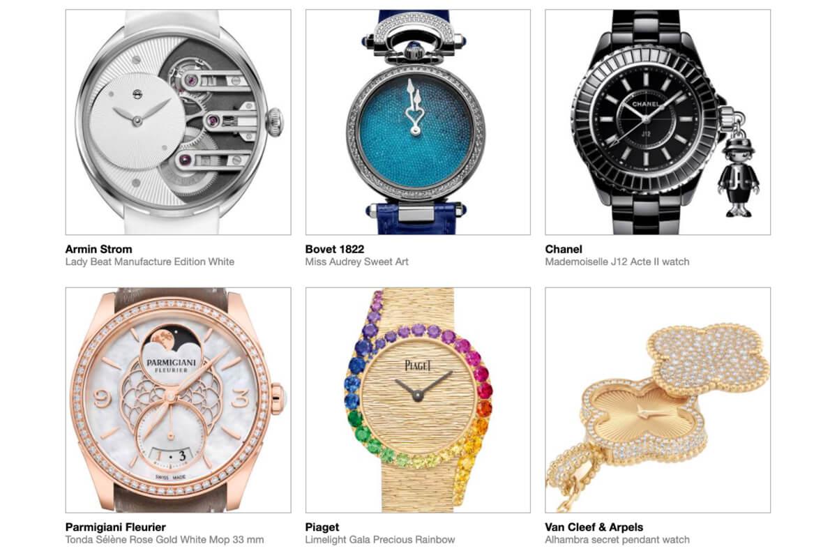 GPHG 2021 Nominated Watches: Ladies'