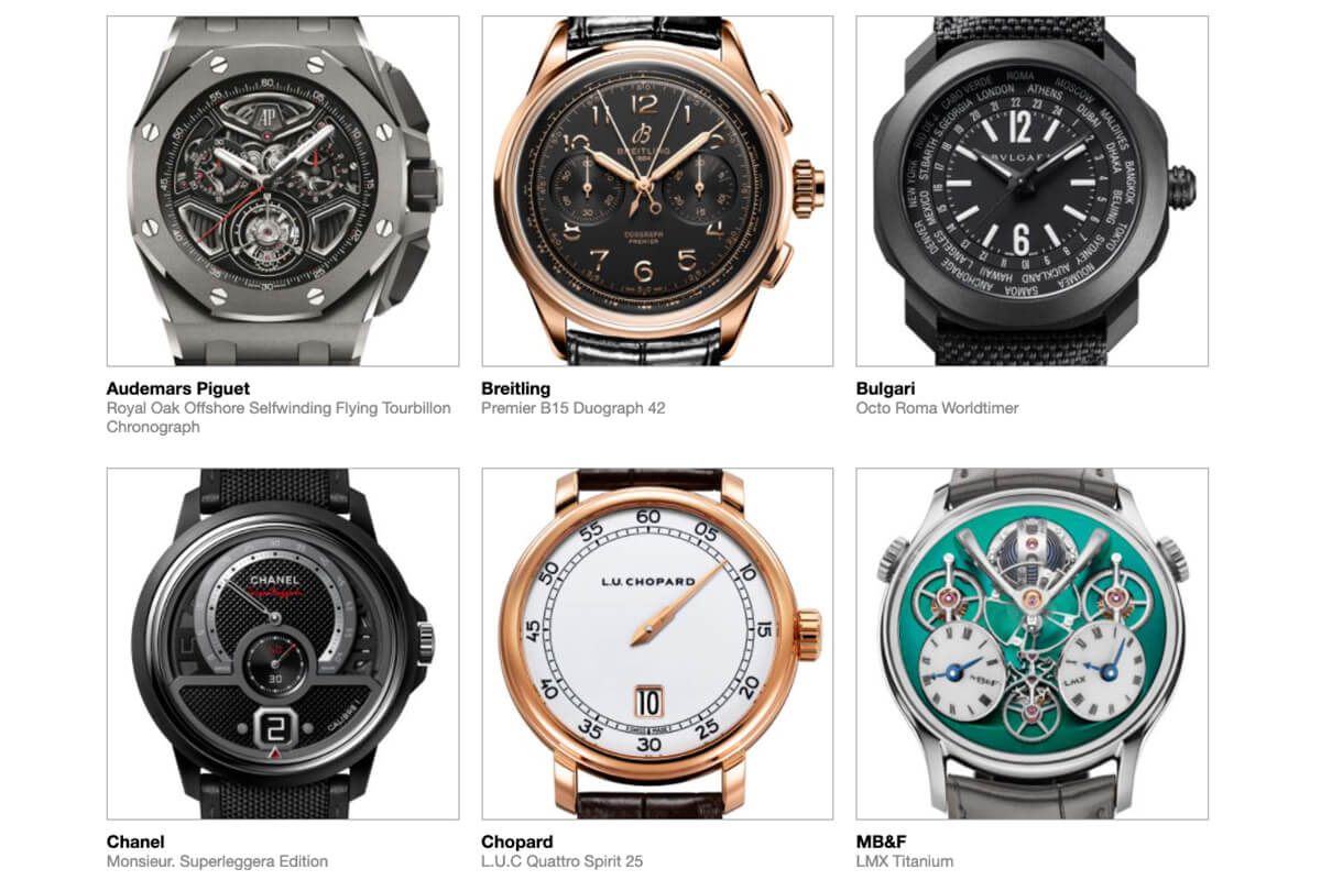 GPHG 2021 Nominated Watches: Men's complications