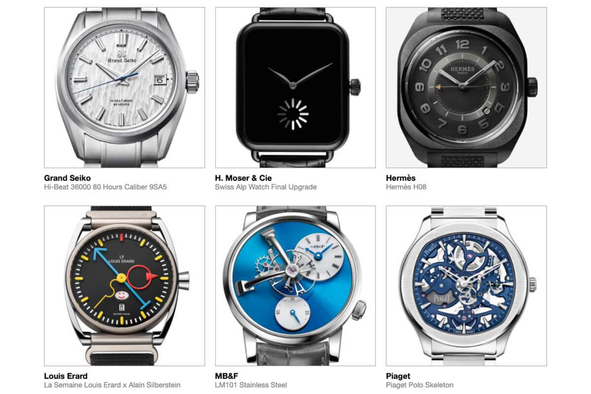 GPHG 2021 Nominated Watches: Men's
